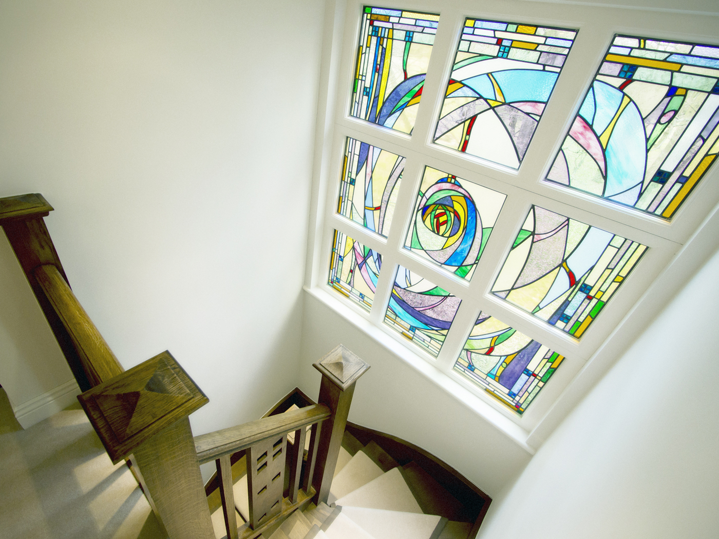 Neil Ireson - Stained Glass Above Staircase